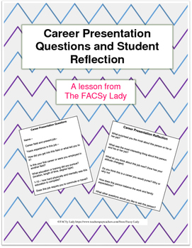 Career Presentation Questions and Reflection