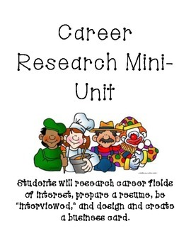 Career Research Mini-Unit