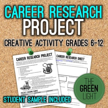 Career Research Project with Worksheets and Sample