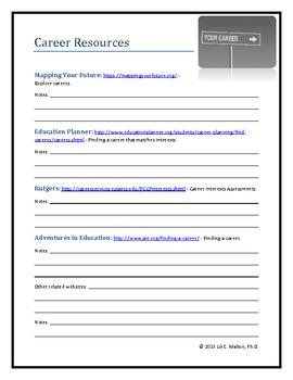 Career Resource Worksheet