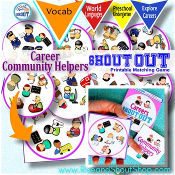 Careers spot the match Game Shout Out; Community Helpers,