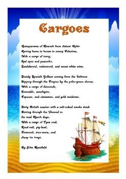 Cargoes Poem Activity
