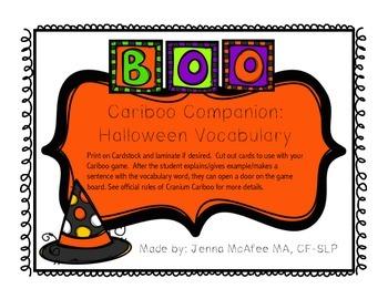 Cariboo Companion: Halloween Vocabulary FREEBIE