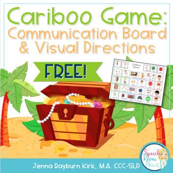 Cariboo Game: Communication Board & Visual Directions Freebie