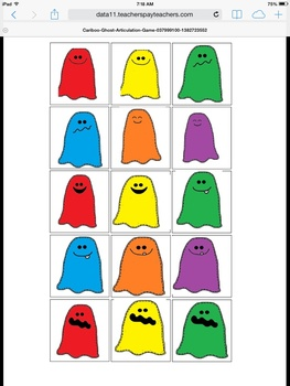 Cariboo Halloween Ghost Color Game