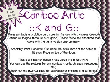 Cariboo K and G with bonus phrase and sentence lists along