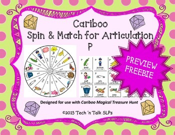 Cariboo Spin & Match for Articulation P (FREEBIE)