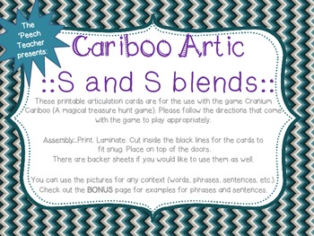 Cariboo: /s/ and /s/ blends with BONUS phrase and sentence lists