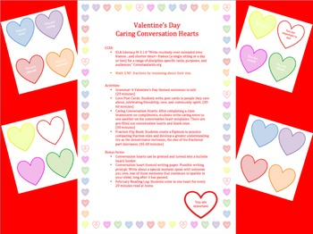 Caring Conversation Hearts- Valentine's Day Week Activities