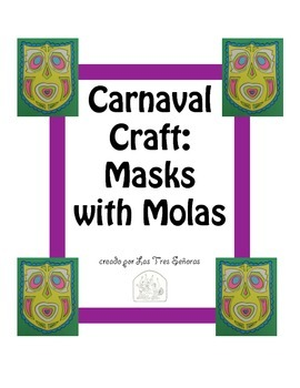 Carnaval Craft Mask with Molas