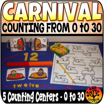 Carnival Centers Counting To 30 Amusement Park Circus Math
