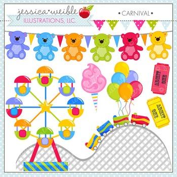Carnival Cute Digital Clipart, Summer Clip Art, Amusement