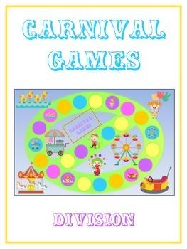 Carnival Games Math Folder Game - Common Core - Division -