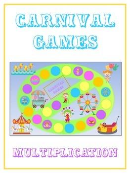Carnival Games Math Folder Game - Common Core - Multiplication