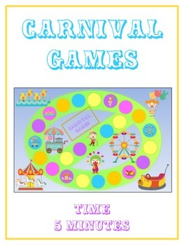 Carnival Games Math Folder Game - Common Core - Telling Ti