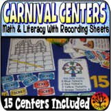 Carnival Centers Activities Amusement Park Literacy Math P