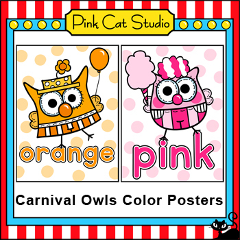 Owl Theme Colors Posters - Carnival Circus Theme