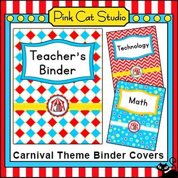 Binder Covers Carnival Theme - Circus Theme