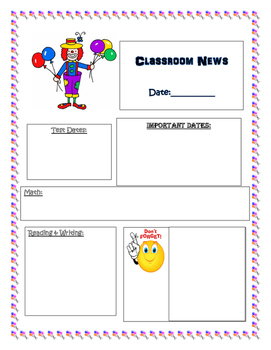 Carnival Theme Newsletter Template