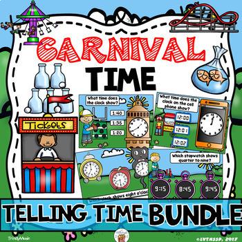 Carnival Time Bundle (Telling Time)