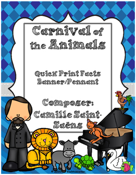 Carnival of the Animals Quick Print Fun Fact Pennants - Vi