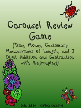 Carousel Review Game to go with Go Math! Florida 2nd Grade