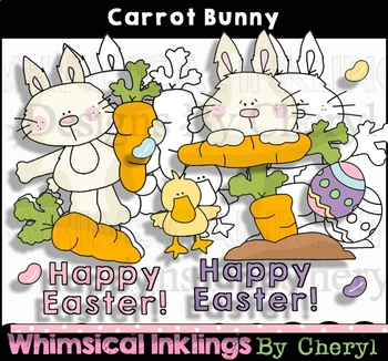 Carrot Bunny ~Easter Clipart Collection
