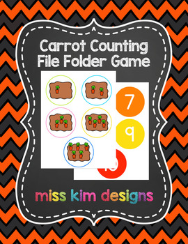 Carrot Counting File Folder Game for Special Education
