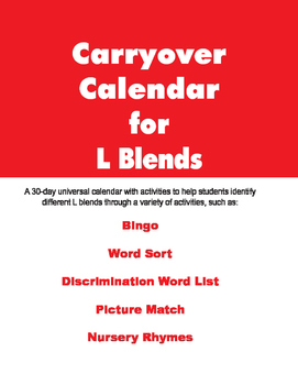 Carryover Calendar for L Blends