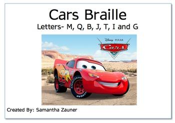 Cars Braille File Folder Game