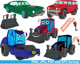 Cars Construction Machines Clip Art dump cute Excavator WO
