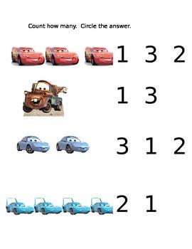 Cars Counting Sheet