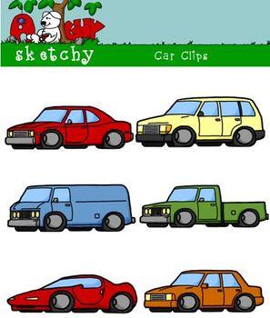Cars / Vehicles / Trucks Clipart Graphics -300dpi Color Gr