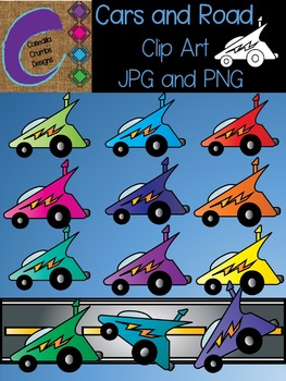 Cars and Road Clip Art Color Images