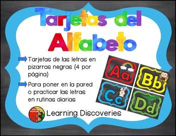 Cartas del Alfabeto de Color con Negro - Colorful Black Sp