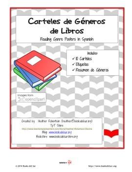 Carteles de Generos de Libros (Book Genre Posters in Spanish)