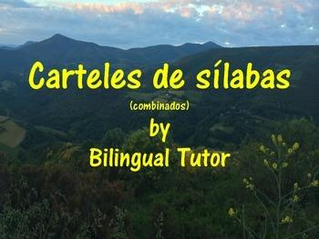 Spanish Syllable Posters/Carteles de sílabas (Combined)