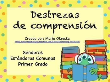 Carteles sobre las destrezas de comprensión de lectura - Senderos