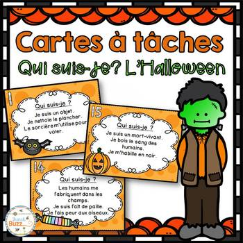 Halloween - Cartes à tâches - Qui suis-je? - French Task Cards
