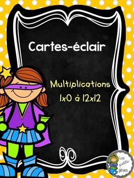 Cartes-éclair multiplications flashcards