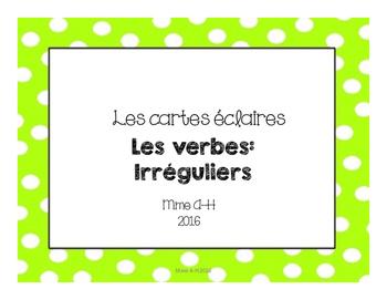Cartes éclaires: Les verbes irréguliers