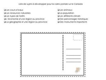 Cartes postales sur le Canada
