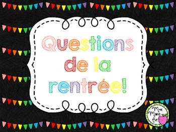 Cartes à tâches - Rentrée scolaire (Back to School Task Cards)