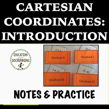 Cartesian Coordinates Interactive Notebook Notes and Pract