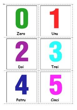 Cartonaşe, Fişe cu numerele 0-10.