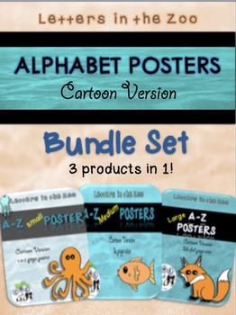 Cartoon Alphabet Posters Bundle