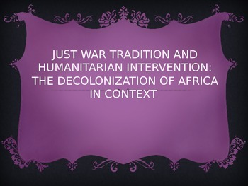Case Study in Decolonization: Sudan and the Just War Tradition