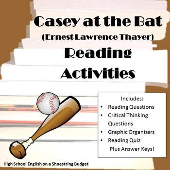 Casey at the Bat Reading Activities (E. Thayer)