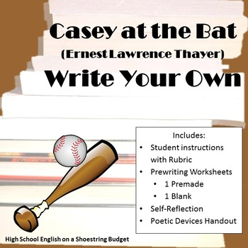 Casey at the Bat Write Your Own Activity (E. Thayer)