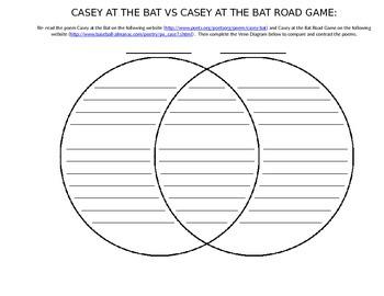 Casey at the Bat vs Casey at the Bat Road Game Venn Diagra